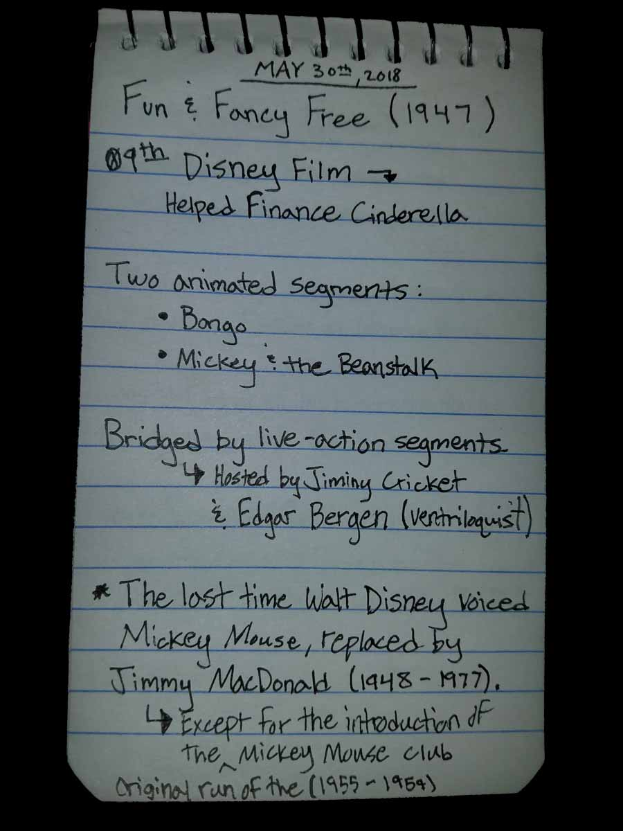 Fun and Fancy Free Film Notes, Trivia, Bagrisham, Brandon Grisham
